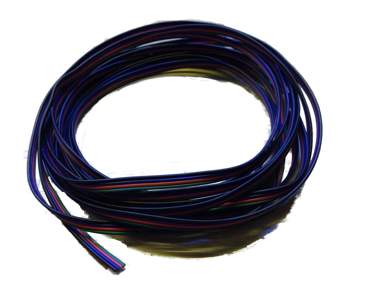 LEDNexus - 10m LED RGB Strip Kabel 4-adrig Verlängerungskabel ...