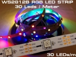 1m 30 LEDs WS2812B 5050 RGB Stripe weiss mit WS2811 Controller