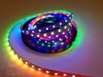 2m 120 LEDs WS2812B 5050 RGB Stripe weiss mit WS2811 Controller, inkl. Anschlusskabel