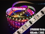 LPD8806 Streifen Strip LED RGB Stripe IP20 48 LEDs/m - 24 ICs/m - Meterware