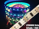 LPD8806 Streifen Strip LED RGB Stripe IP20 52 LEDs/m - 26 ICs/m - Meterware